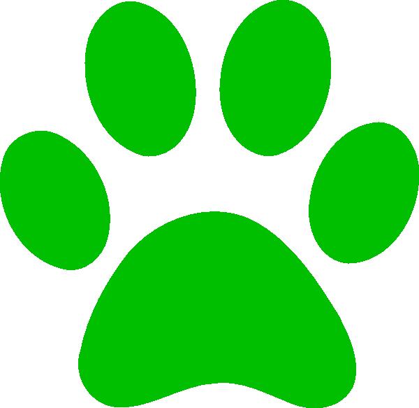 Bobcat clipart svg. Green paw print clip