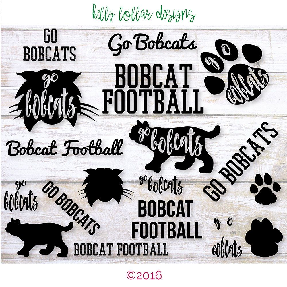 Bobcats mascot cut file. Bobcat clipart svg