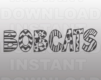 Bobcats etsy file sports. Bobcat clipart svg