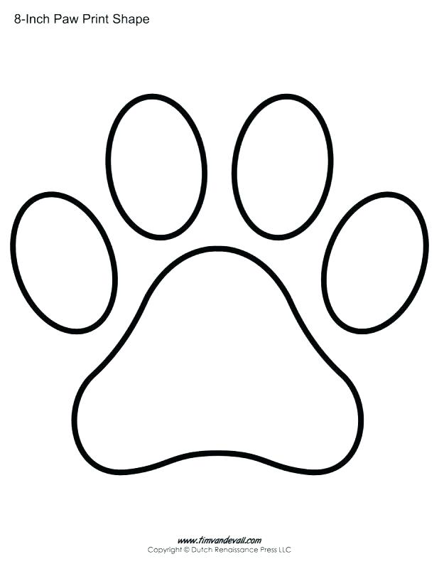 Bobcat clipart template. Paw print dog printable