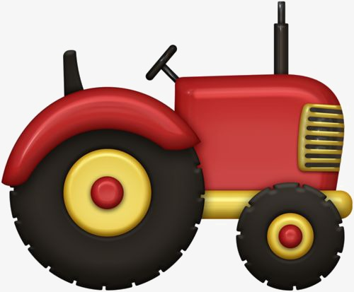 Bobcat clipart tractor. Cartoon red agriculture png