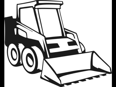 A skid steer loader. Bobcat clipart tractor