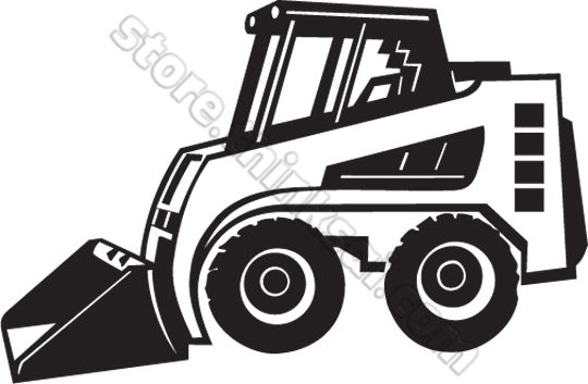 Pin on dendress att. Bobcat clipart tractor