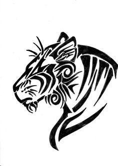 Head drawings animal how. Bobcat clipart tribal