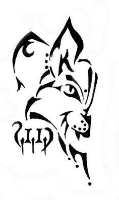 Lynx mascot symbols and. Bobcat clipart tribal