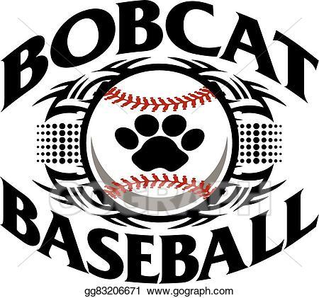 Bobcat clipart tribal. Vector stock baseball illustration
