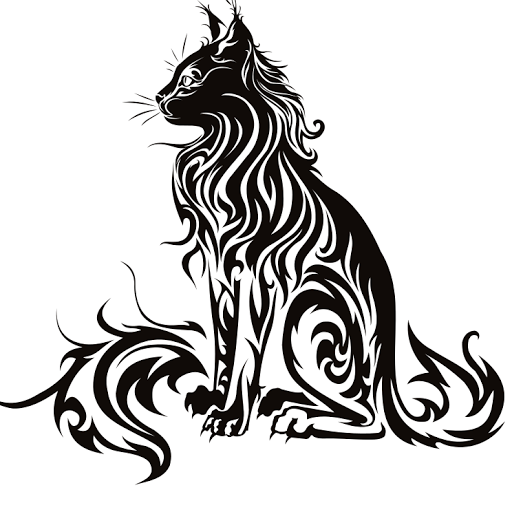 Bobcat clipart tribal.  tattoo designs and