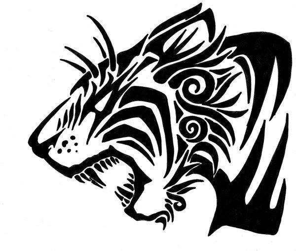 Bobcat clipart tribal.  best tiger tattoo