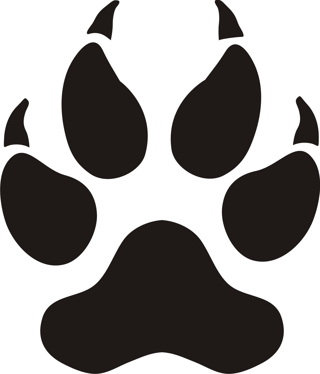 Bobcat clipart vector. Free paw print download