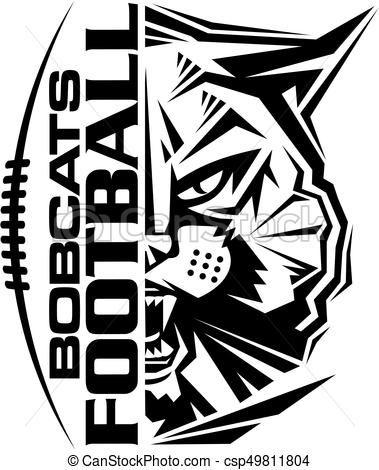 Bobcats football stock illustration. Bobcat clipart vector