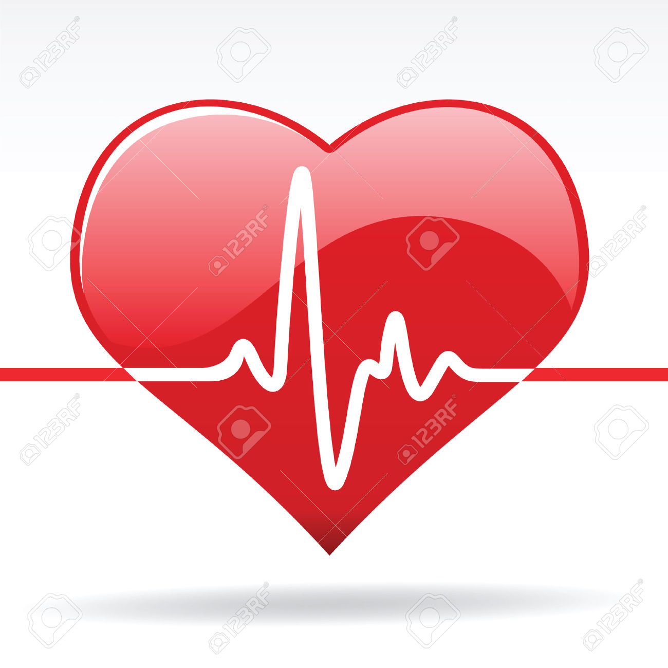 Medical of beating heart. Body clipart animated