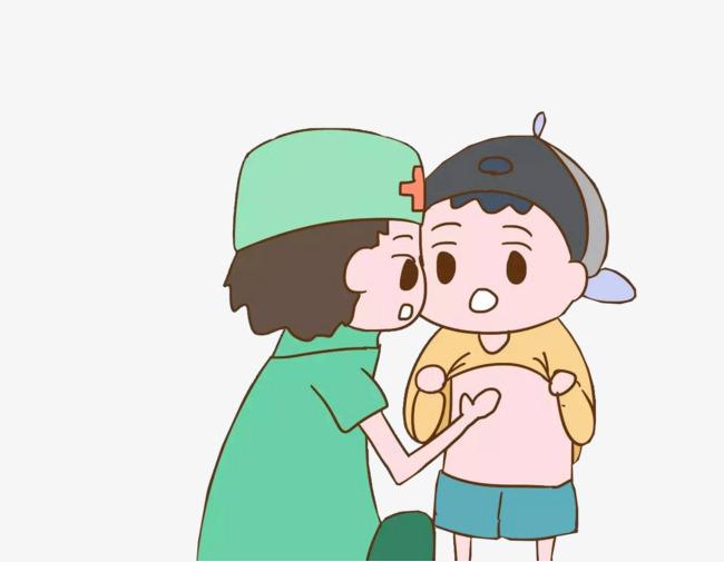 Cute illustration pediatrician checks. Body clipart animated