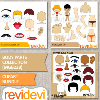 Body clipart body part. Clip art parts collection