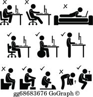 Vector illustration human pain. Body clipart body position