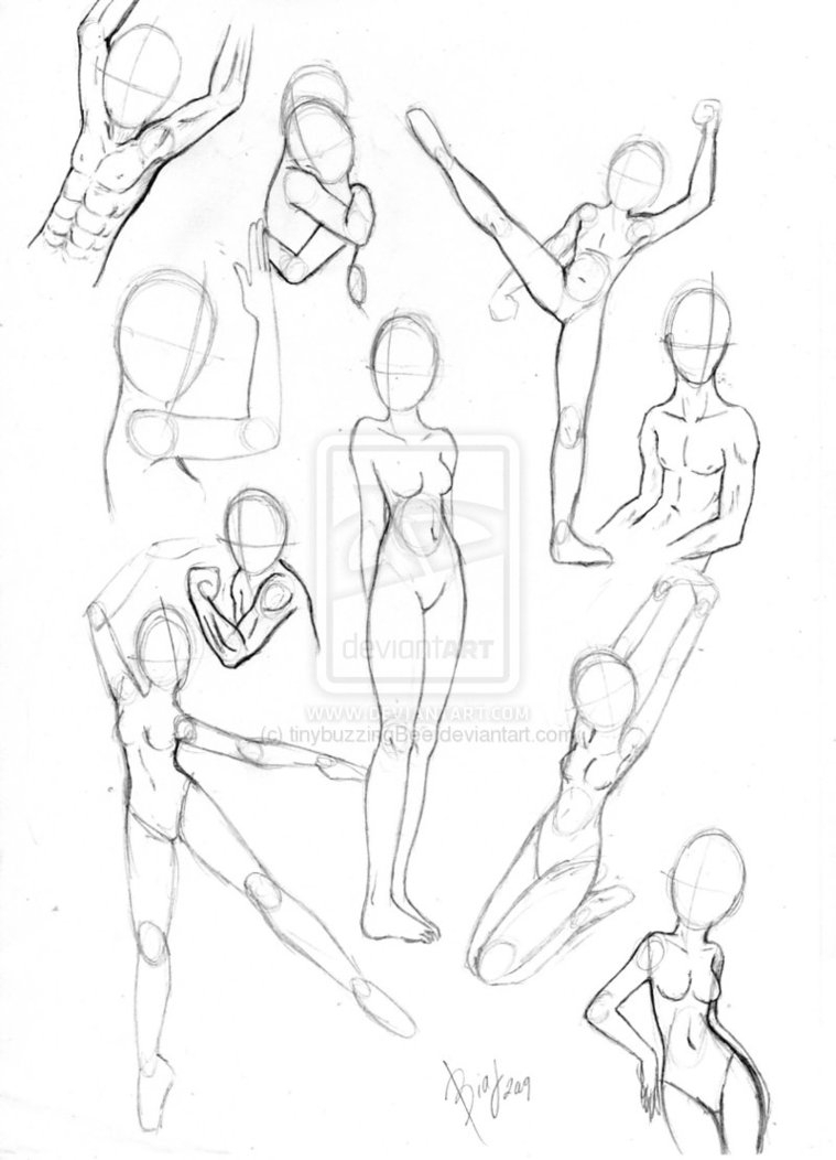 Body clipart body position. Female reference drawing at