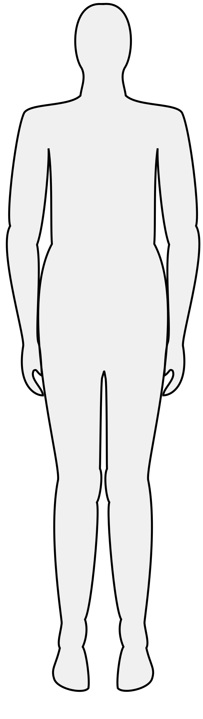 Body clipart body shape. Male silhouette big image