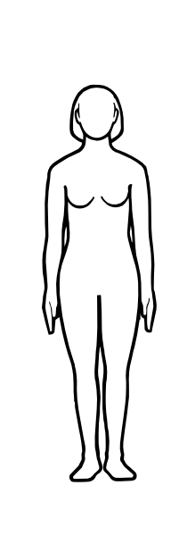 Body clipart body shape. Female silhouette outline at