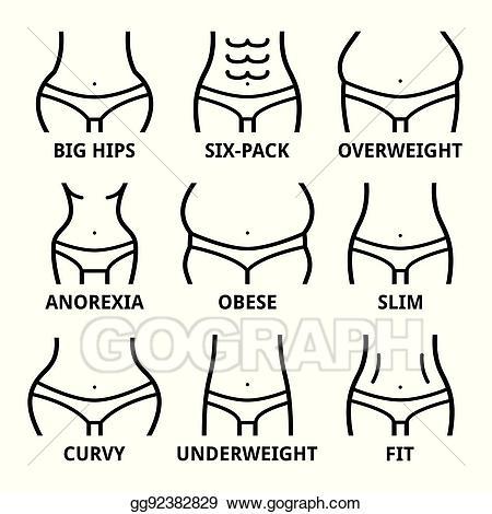 Eps illustration female fit. Body clipart body shape