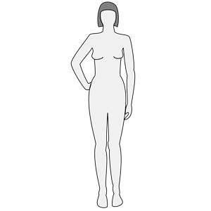Girl body outline . Female clipart female human