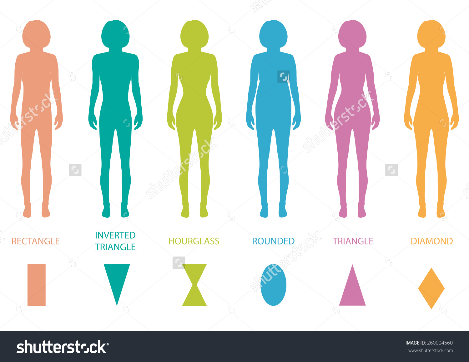 Girl figure with name. Body clipart body shape