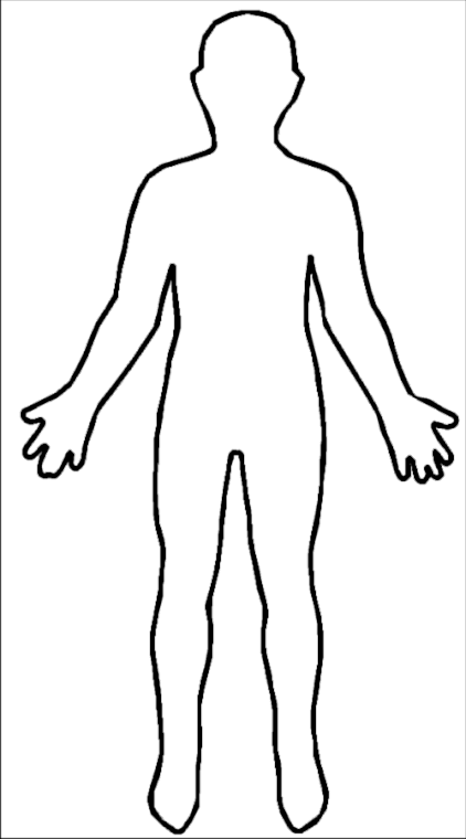 outline of a. Body clipart body shape