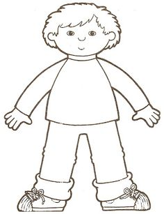 Gallery black and white. Body clipart boy's
