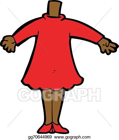 Body clipart cartoon. Vector art female add