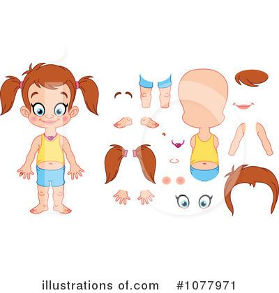 Simple child parts jpg. Body clipart cartoon