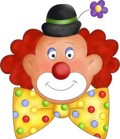 Circus face printable party. Body clipart clown