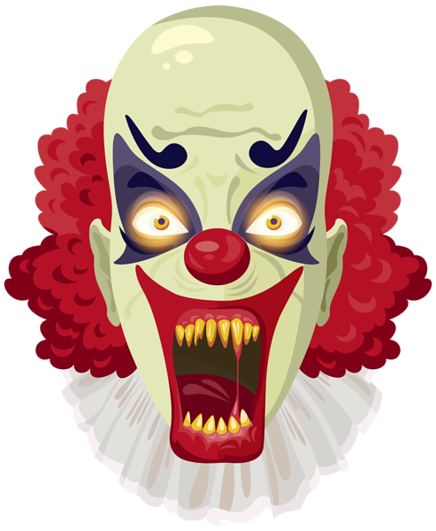Body clipart clown. Scary png image halloween