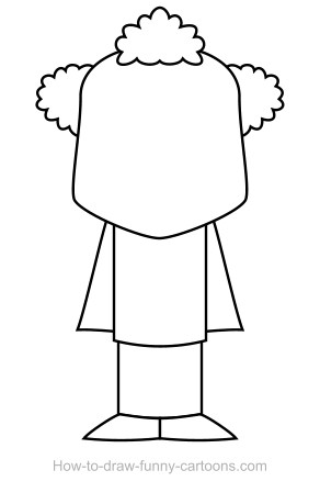 Body clipart clown. Drawing sketching vector