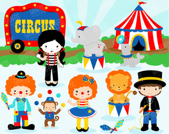 Clowns etsy circus kids. Body clipart clown