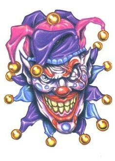 Tattoo on pinterest evil. Body clipart clown