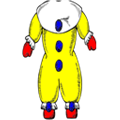 Pencil and in color. Body clipart clown