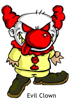 Body clipart clown. A scary female and