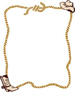 Boarder clipart rope. Free western border clip