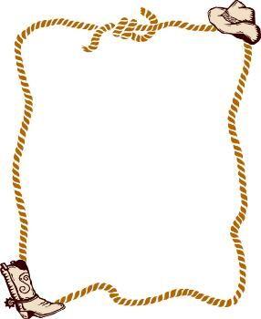 Body clipart cowboy. Free western rope border