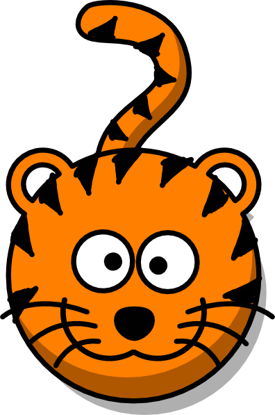 Tiger head no clip. Body clipart cute