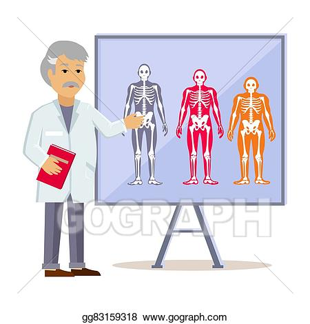 Eps illustration shows type. Body clipart doctor