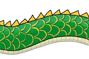 Scales drawing at getdrawings. Body clipart dragon