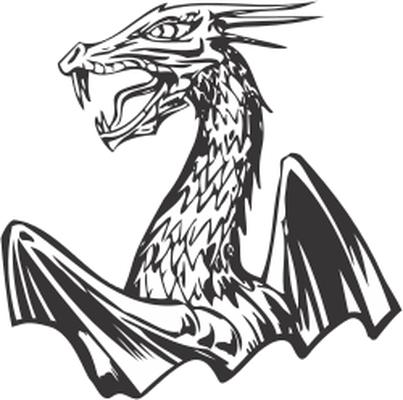 Body clipart dragon. Half of a s