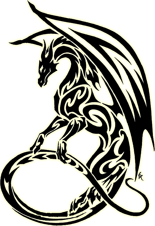 Tribal best books posters. Body clipart dragon