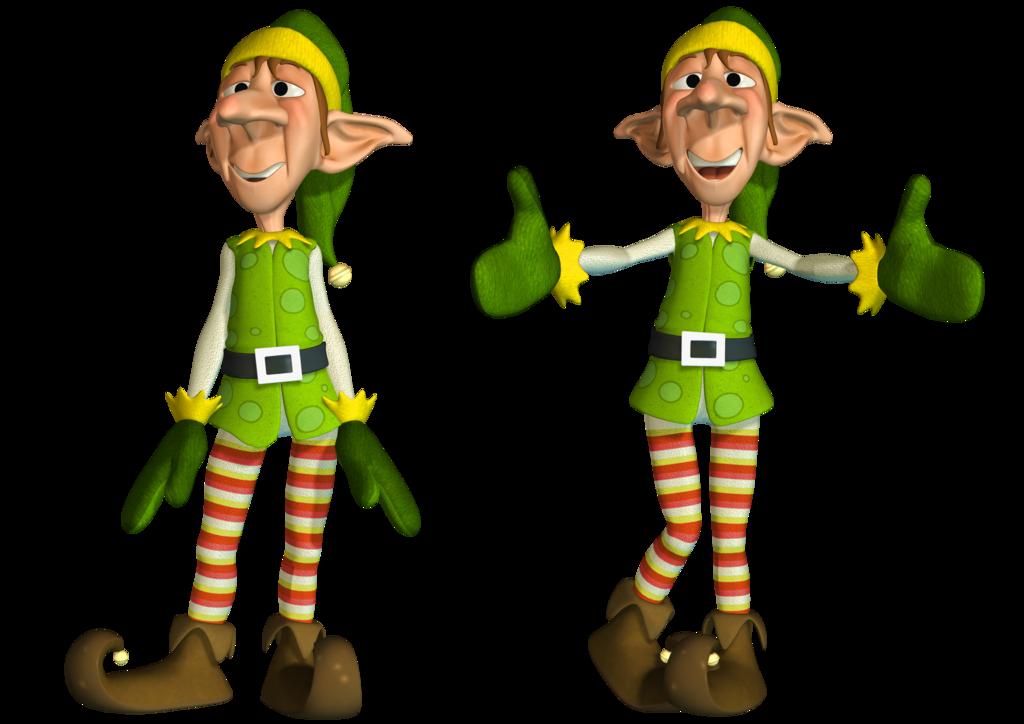 Body clipart elf. Christmas elves transparent clipartxtras