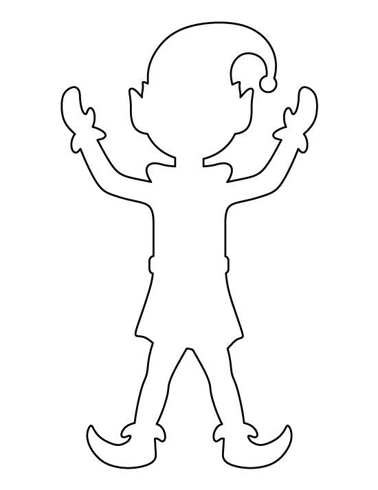 Pattern use the printable. Body clipart elf