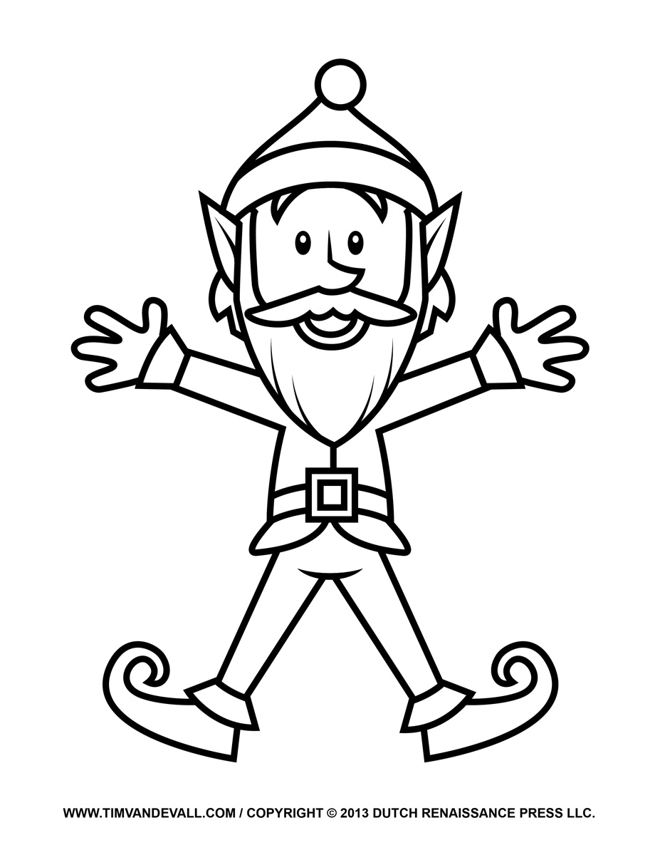 Easy drawing at getdrawings. Body clipart elf
