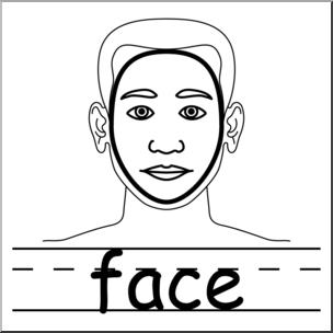 Body clipart face. Clip art parts of