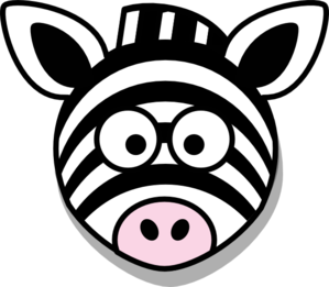 Zebra head no clip. Body clipart face
