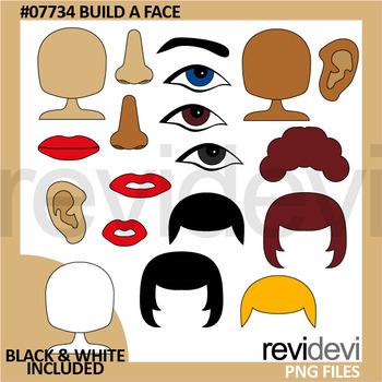 Body clipart face. Build a clip art