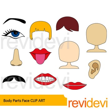 Body clipart face. Parts clip art