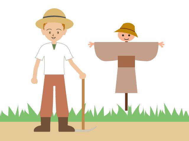 Scarecrow agriculture autumn illustration. Body clipart farmer